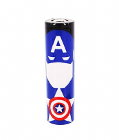 Wrap Captain America pour accus 18650
